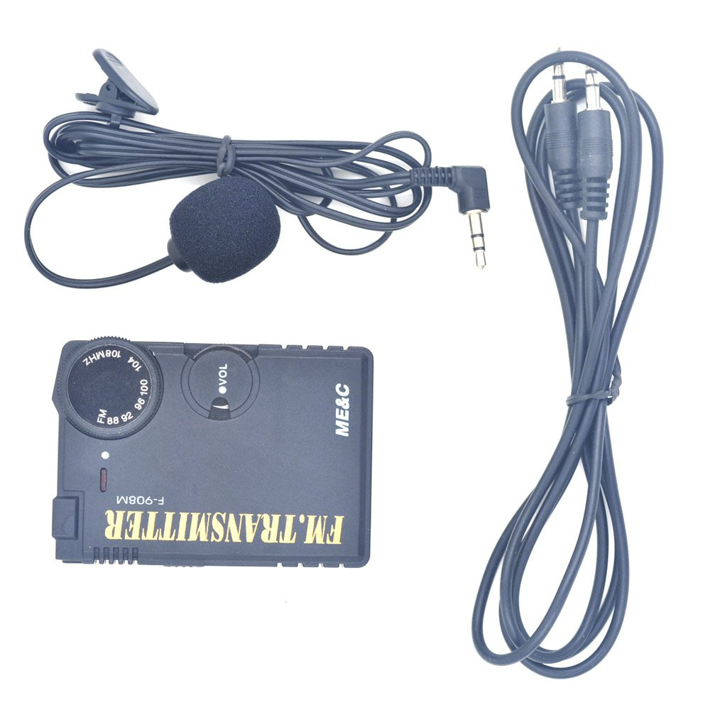 1pc Ba1404 87 108mhz Fm Stereo Not Pll Transmitter With Audio Transmission Cable And Lavalier Microphone Industrial Scientific