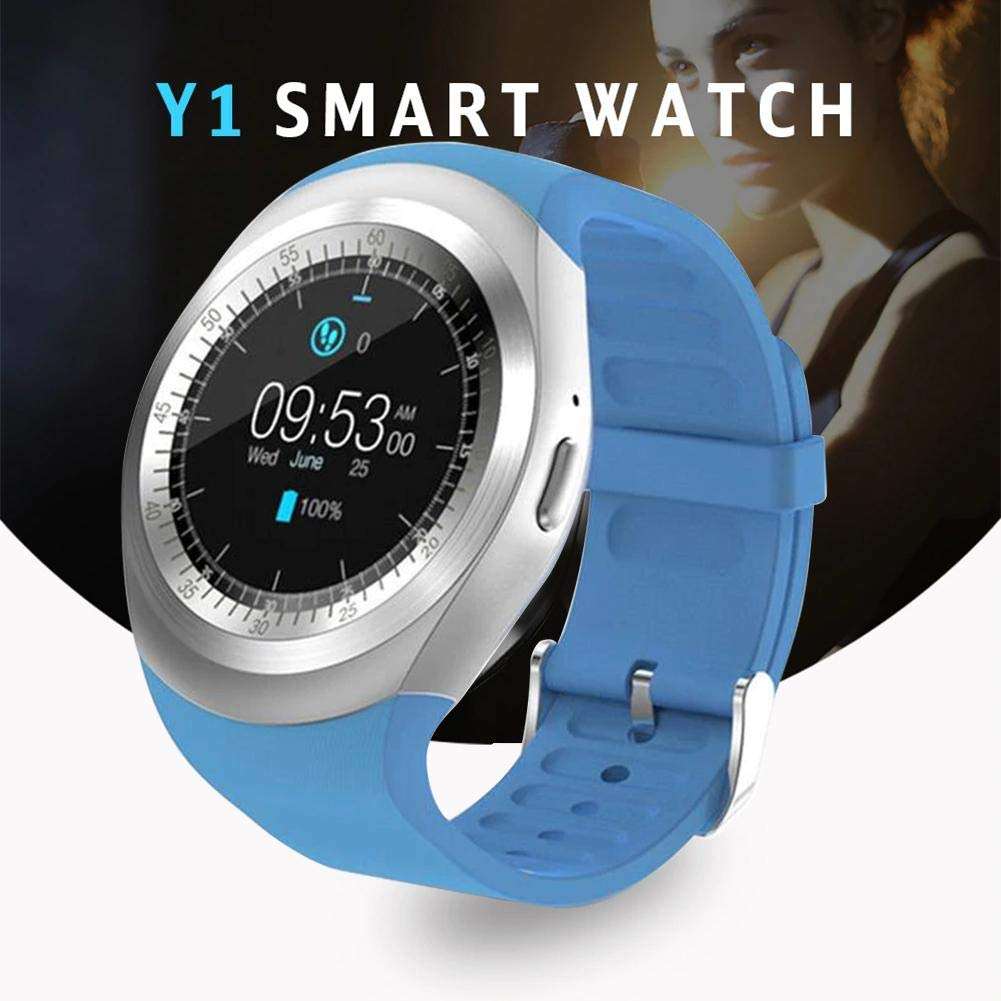 Amazon.com: Smart Y1 Bluetooth V3.0 Watch Round Supports ...
