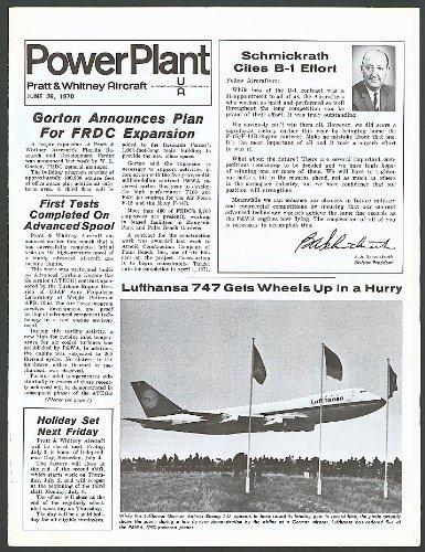 Tri Motor Aircraft - Pratt & Witney Aircraft Power Plant Boeing 747 Ford Tri-Motor 6/26 1970
