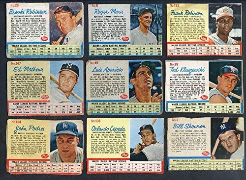 1962 Post Baseball Lot 23 Diff Below GD-VG w Robinson Maris 353679 Kit Young ()
