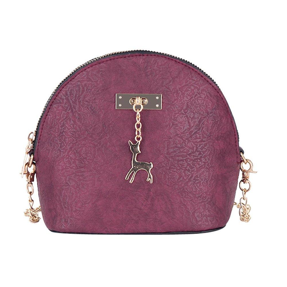 Amazon.com: Women Quality Handbag Leather Shoulder Bag ...