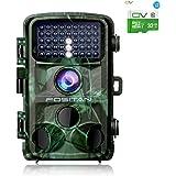 FOSITAN HC-2トレイルカメラ 狩猟モニターカメラ 監視カメラ 1400万画素1080PフルHD 0.2sトリガー時間 パスワード保護機能 42個赤外線LEDライト搭載 IP66防水防塵 120°検知範囲 人体感知電池式カメラ 32GSDカード付き 【日本語説明書付き·メーカー保証】