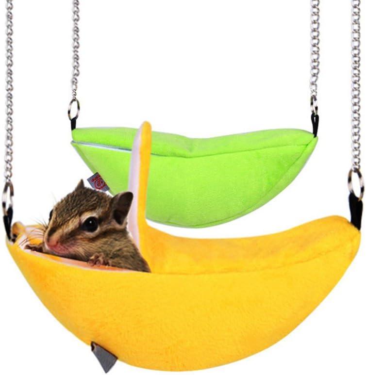 Keersi - Hamaca de felpa cálida para invierno, para hámster sirio, rata Gerbil, ratón, conejillos de indias, ardilla; cama, columpio o juguete para jaula de animal pequeño
