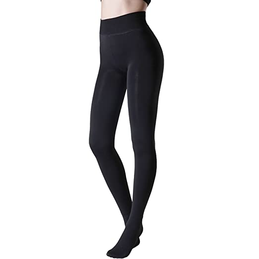 382f22b2f2b Tulucky Womens Socks Hosiery Control Top Tights Velvet Lined Pantyhose  Footed Legging Pants (one Size