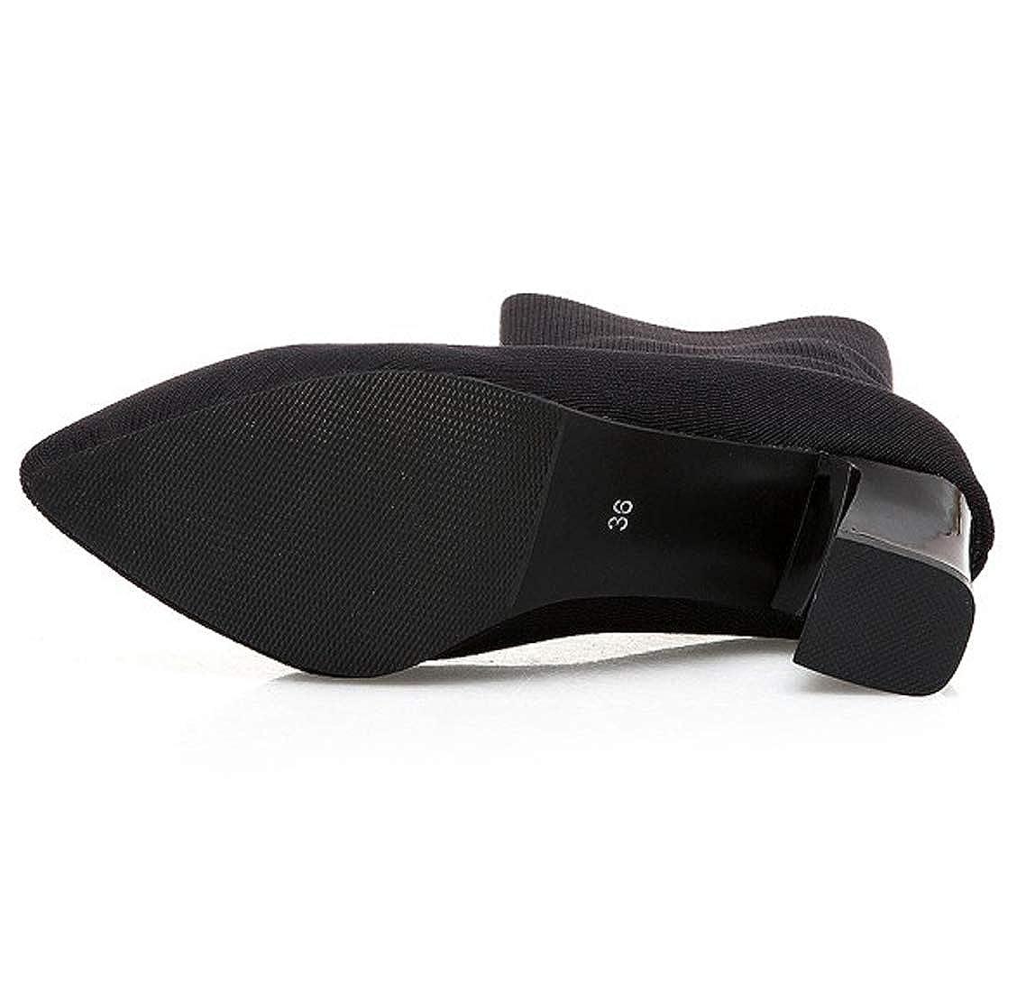 En Maille Chaussettes Noir Bottes Seraph Shoes q70wt44
