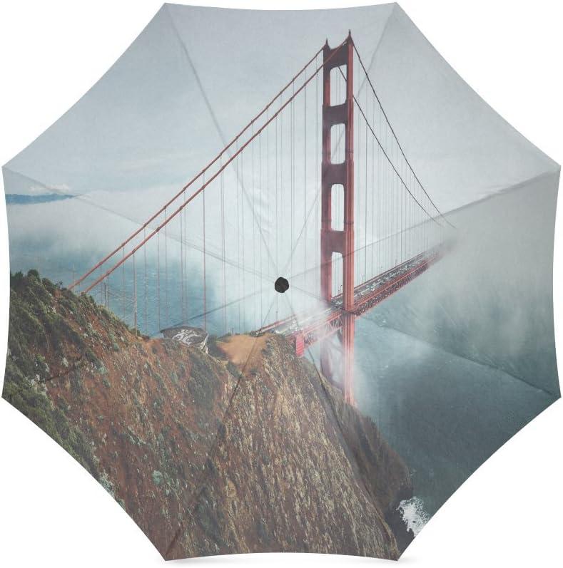 Custom Bridge Compact Travel Windproof Rainproof Foldable Umbrella
