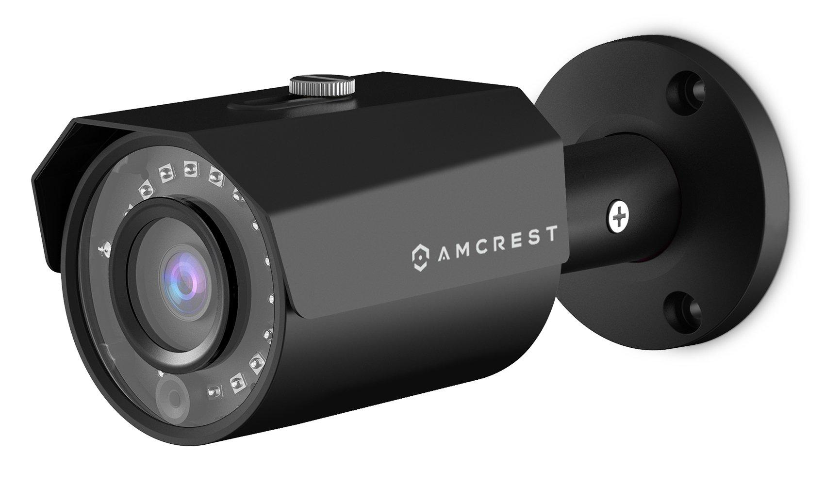 Amcrest ProHD Outdoor 1080P POE Bullet IP Security Camera - IP67 Weatherproof, 1080P (1920 TVL), IP2M-843EB (Black)