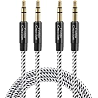3.5mm Aux Cable, CableCreation [2-Pack] 3.5mm Audio Cable Compatible with Headphones, iPhones, iPads, Home/Car Stereos…