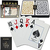 Copag Poker Size Jumbo Index 1546 Playing Cards (Black Gold Setup) 2 PACK