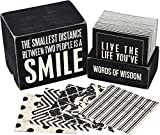 Primitives by Kathy words of wisdom Boxes are made of high quality wood with a slightly distressed look that give them a primitive feel. Each keepsake box contains 80 cards of themed quotes for inspiration and encouragement. Primitives by Kat...