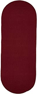 product image for Rhody Rug Madeira Indoor/Outdoor Oval Braided Runner Rug (2' x 8') - 2' x 8' Runner Red 6' Runner