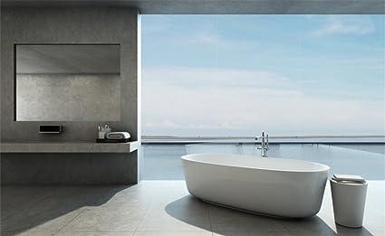 Amazon Com Leowefowa 5x3ft Bathroom Backdrop Bathtub Bath Towel