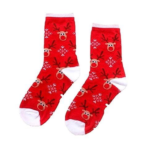 Dylandy Calcetines de Elk de algodón para Navidad, Disfraz de Navidad, 1 par