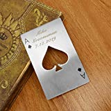 CozyCabin Customized Bottle Opener,Personalized Stainless Steel Practical Wine Corkscrew Beer Opener Casino Poker Styles (1 Pc, Customized Poker) Review