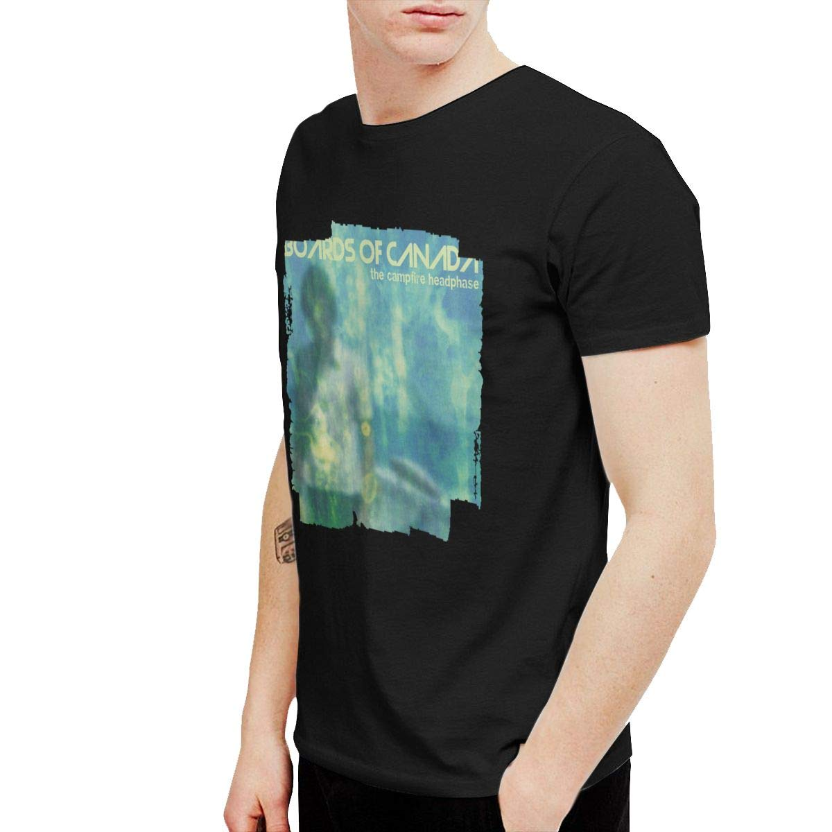 KaceO Mens Boards of Canada The Campfire Headphase Tshirts Black