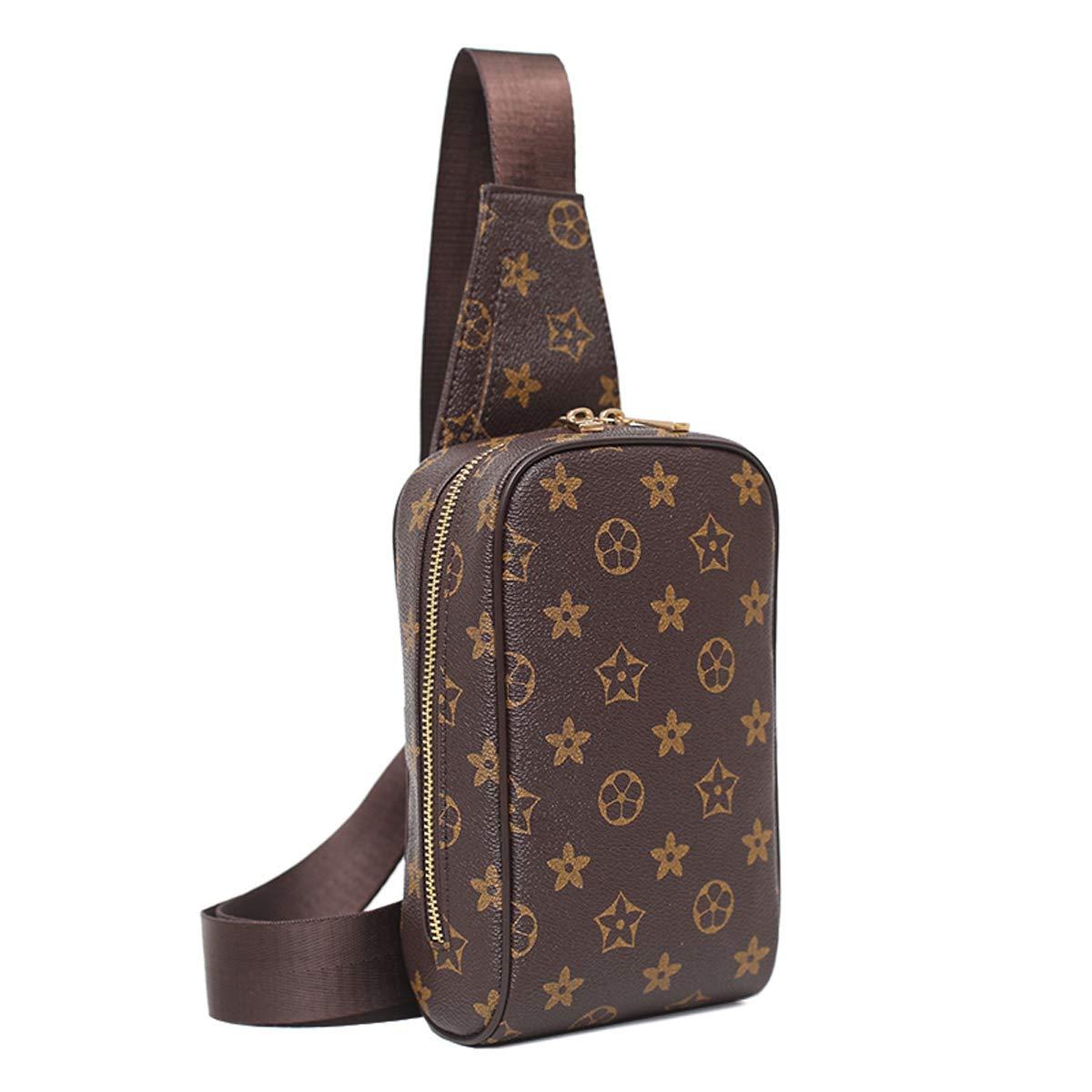 6f2ebe4dd643 Chest Bag for Men Leather Sling Backpack Fashion Casual Crossbody Shoulder  Bag Women Travel Sling Daypack Outdoor Messenger Bag(Men Chest Bag for ...