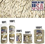 TOUGH-GRID 750lb Desert Camo Paracord/Parachute Cord - Genuine Mil Spec Type IV 750lb Paracord Used by The US Military (MIl-C-5040-H) - 100% Nylon - Made in The USA. 100Ft. - Desert Camo