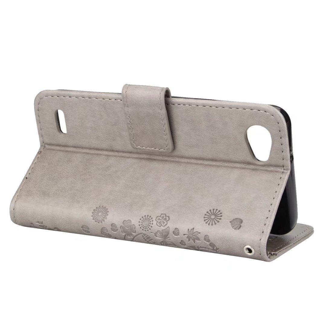 Gris Ougger Cuero Tapa Suave Silicona Funda Piel Billetera Magn/ética Protector Cover Carcasa para LG Q6 con Ranura para Tarjetas Regalo Oso /Árbol 186 Funda para LG Q6 // M700N // M700A Carcasa