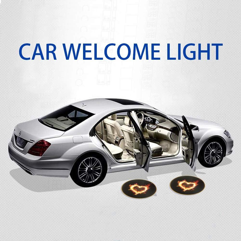 ATMOMO 2pcs Wireless Car Door LED Welcome Light Laser Projector Lamp Shadow Light Lamps Kit-Deer