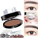 FACPOET Brow Stamp Powder Natural-Looking Straight United Eyebrows Enhancer Delicate Shape Eye Makeup Stencil Kit in Seconds(02-#)