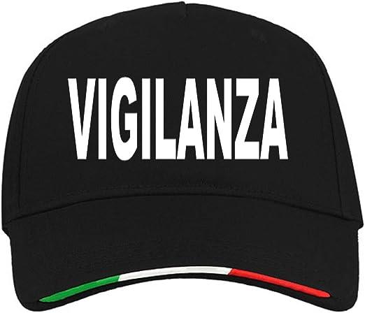 WIXSOO Cappello Vigilanza Italia Nero