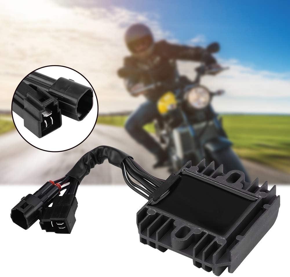 YOPOTIKA Rectificador Regulador de Voltaje de Motocicleta 1Pc para Suzuki Gsxr 600750 2006-2010 Gsxr1000 2005-2013 Negro