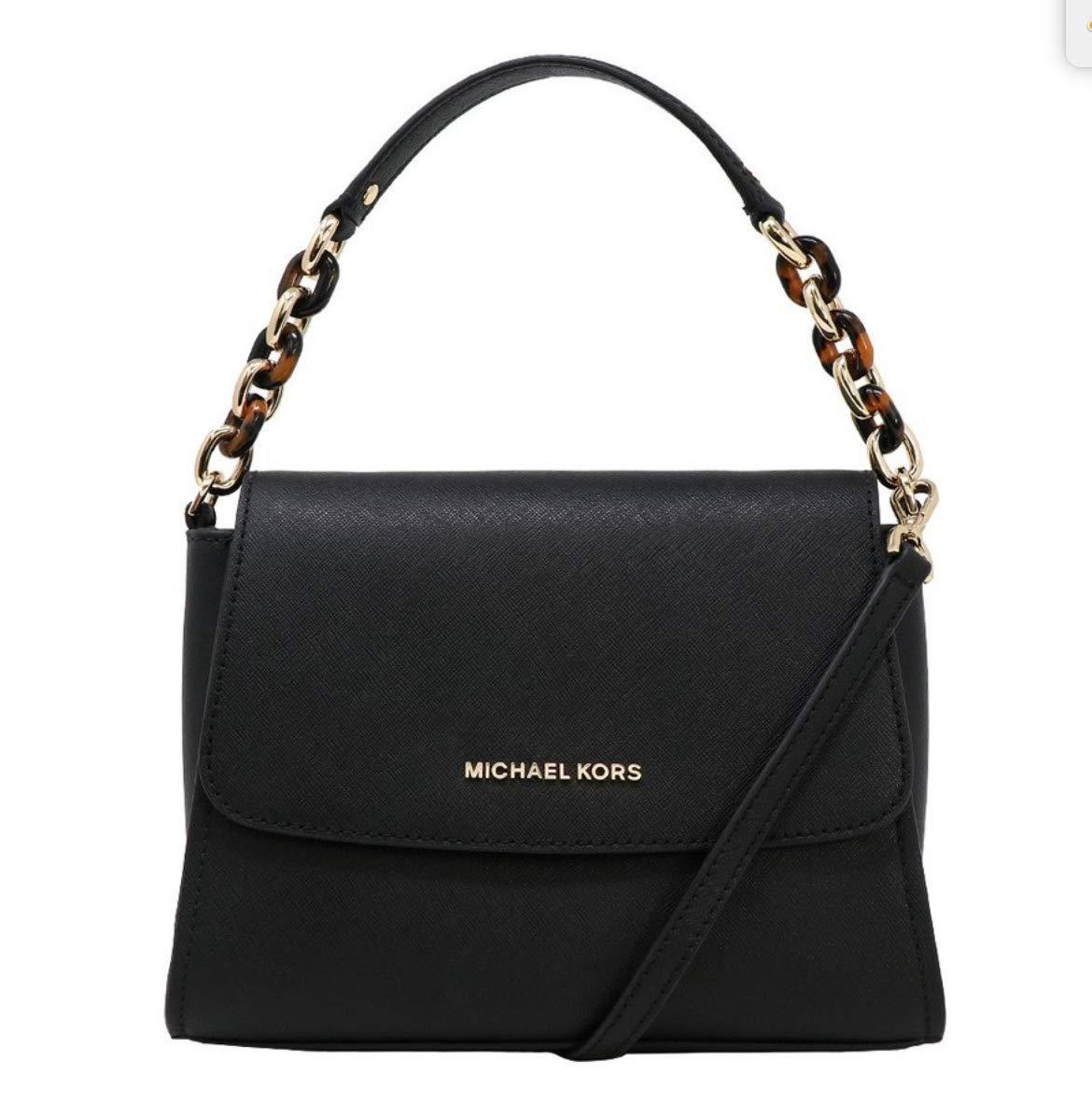 Michael Kors Sofia Portia Small East West Satchel Crossbody Bag in Black