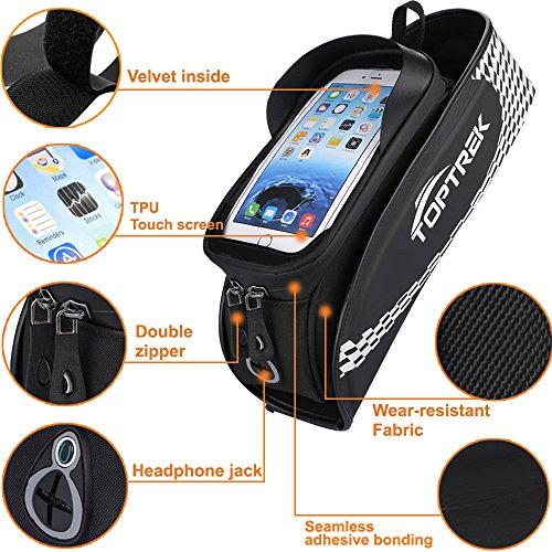 Bike Bag Waterproof Bicycle Top Tube Bag Touch Screen Phone Holder for iPhone X 6 7 plus 8 / Samsung Galaxy s7 s6 note BMX / Road / Mountain Bike bag Cellphone Below 5.7 Inch