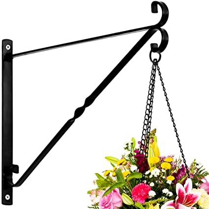 AMAGABELI GARDEN U0026 HOME Hanging Plants Bracket 14u0027u0027 Wall Planter Hook  Flower Pot Bird