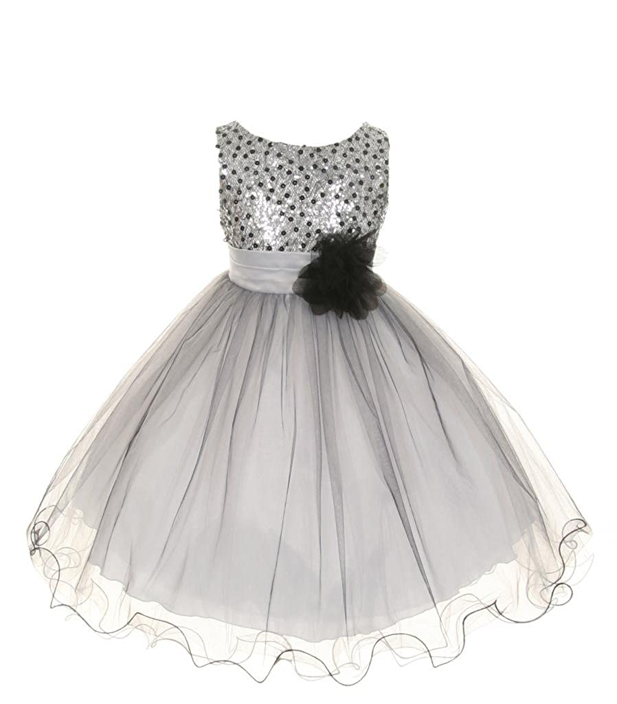 ff4c960970 Amazon.com  Kids Dream Little Girls Beautiful Multi-Sequin   Tulle Gown   Clothing