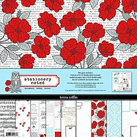 Teresa Collins - Scrapbooking Paper 12 x 12 (Pack de Papeles 30,5 x 30,5 cm) - Stationery Noted: Amazon.es: Hogar
