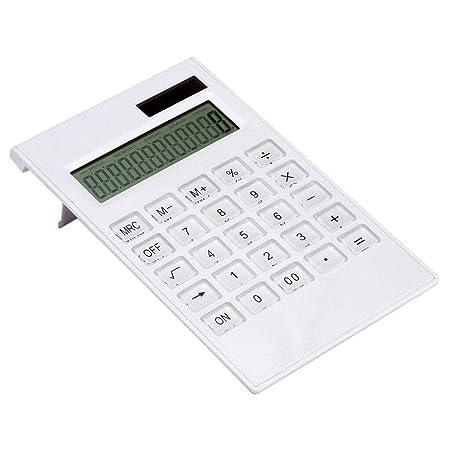 MIBANG Portatile Calcolatrice Solare Portatile a 12 cifre con Ampio Display LCD Sottile 18.5 x 11 x 0.5cm Ideale per Uso Quotidiano e Ufficio