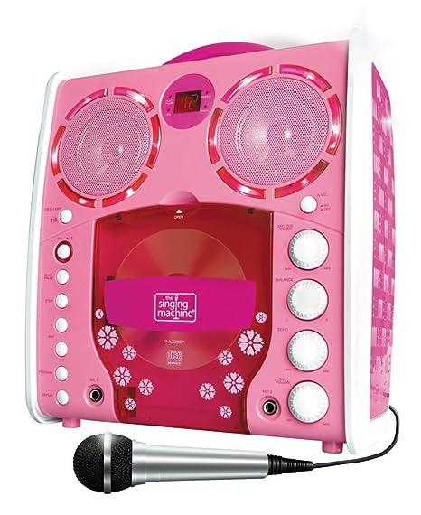 Singing Machine SML-383 Tragbarer CDG Karaoke-Player und 3 CD+Gs Party Packet rose