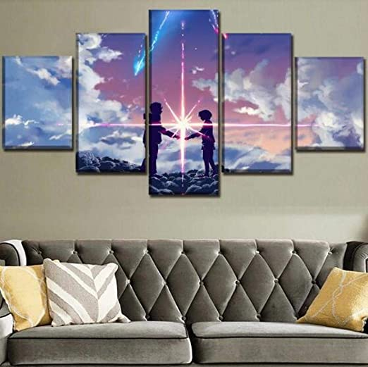 Your Name poster Movie Poster Canvas Poster bedroom art Without frame