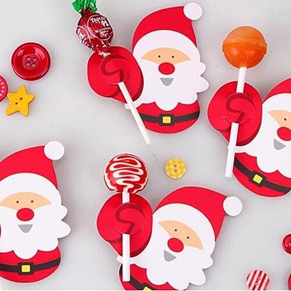 Accessori Natale.Hunpta 50 Decorazioni In Carta Di Babbo Natale E Pinguino Per Lecca Lecca Accessori Da Festa A Tema Natalizio Per Pan Di Zucchero A