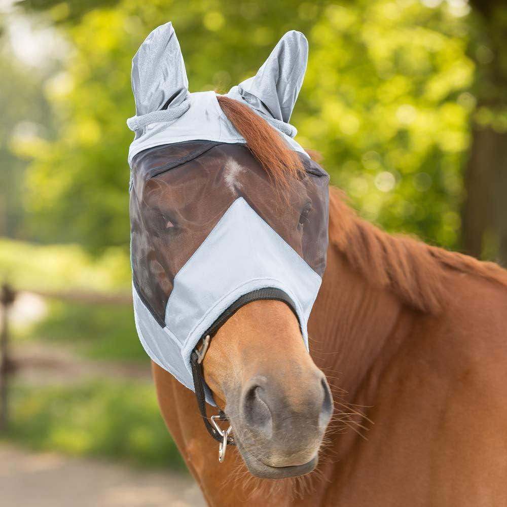 Fliegenmaske Premium ohne Ohrenschutz Waldhausen taubenblau NEU