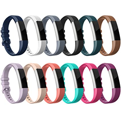 RedTafor Bands Compatible with Fitbit Alta HR/Alta-Pack of 12  Colors,Adjustable Replacement Accessory Bands for Fitbit Alta HR/Alta for  Women/Men(no