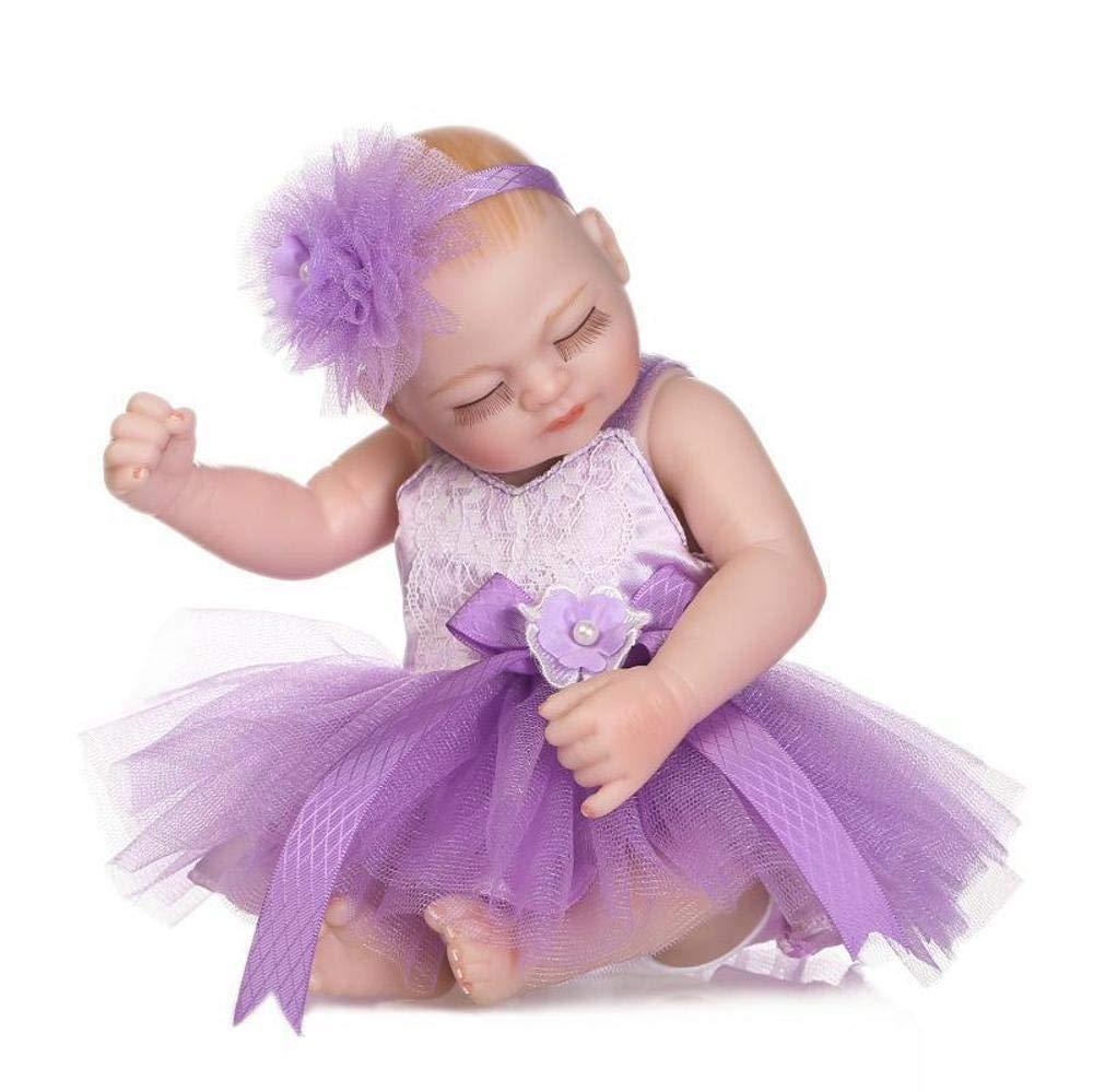 Hongge Reborn Baby Doll,Lebensechte Puppe Spielzeug Spielzeug Spielzeug realistische Prinzessin Spielzeug Kindeskinder Geburtstagsgeschenk 26cm 85427d