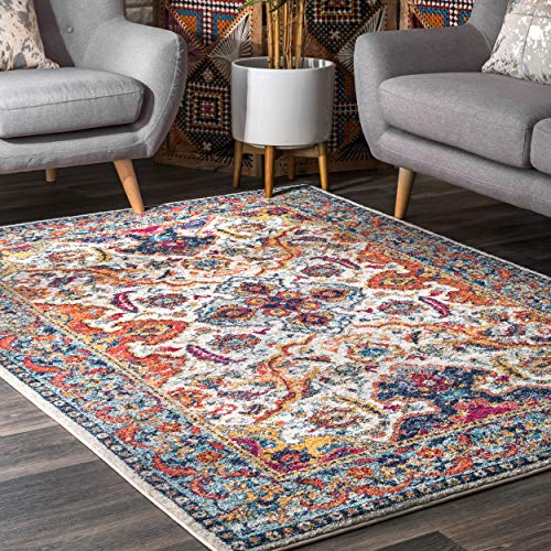 nuLOOM RZBD86A Oasis Collection Area Rug, 8' x 10', Ivory