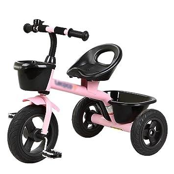 Triciclos Triciclo de niños Bicicleta de juguete Niño Carruaje de bebé 2-6 años de edad con cesta Niños 3 ruedas (Color : Pink) : Amazon.es: Juguetes y ...