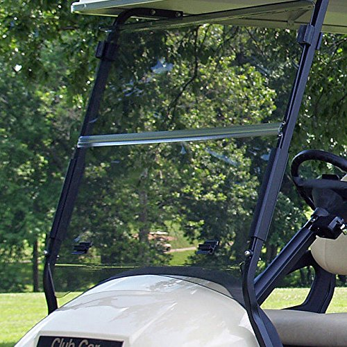 Club Car Precedent Tinted Fold Down Impact Resistant Windshield for CC Precedent Golf Cart INSTALLS & UNINSTALLS in Minutes! ()