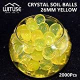 2000PCS WATER BALLS GROWING CRYSTAL SOIL AQUA BEADS 4.1MM YELLOW GEL DECOR
