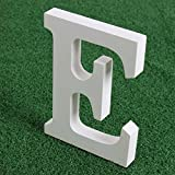 "Norbi Wooden Alphabet Letters Hanging Wall 26 Letters Wedding Brithday Party Children Education Nursery Home Decoration (B) 15cm/6""(E)"