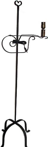 Wrought Iron Floor Lamp Heart Top