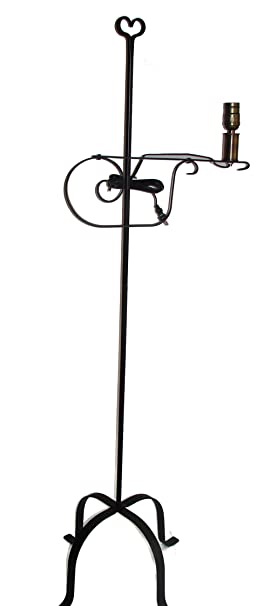 Wrought iron floor lamp heart top amish made video projector wrought iron floor lamp heart top amish made video projector lamps amazon aloadofball Choice Image