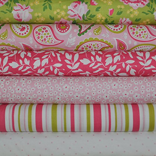 Tone Fat Quarter (Primrose Garden 6 Fabric Fat Quarters Bundle by Carina Gardner for Riley Blake, 1 1/2 yards total)