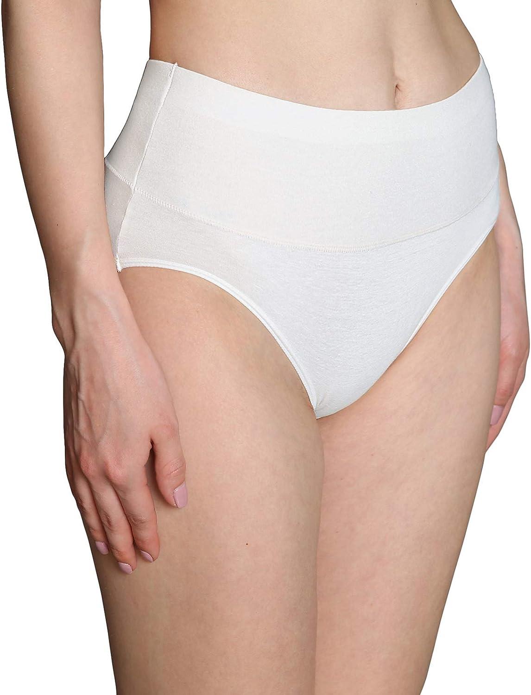 INNERSY confezione da 5 morbide in cotone elasticizzato a vita alta Mutande da donna