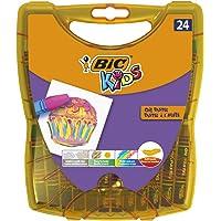 BIC Kids Oil Pastels voor kinderen – opwindend oliepastelkrijt pennen met praktische opbergdoos – 24 krijtstiften vanaf…