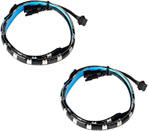J&D PC RGB LED Strip Lights, 2-Pack Adhesive Magnetic RGB LED Light Strip Plus Extension with 4pin RGB Header for Motherboard/PC Case Compatible with Asus Aura/Asrock Aura RGB LED/MSI Mystic Light