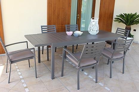 Tavoli Da Ristorante Per Esterno.Tavolo Da Esterno Allungabile Cm 200 300 X100 Con 10 Sedie Senza